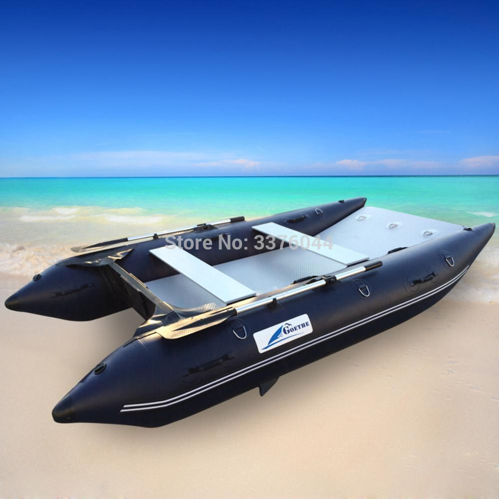 US $570 0 5% OFF|MC330 Goethe 11' Inflatable Boats for Sale High speed boat  double body catamaran Fishing boat-in Rowing Boats from Sports &