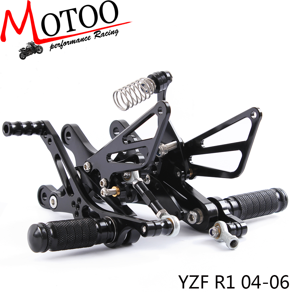 Full CNC aluminum Motorcycle footrest footpeg pedal Rearset  Rear sets Rear Set For YAMAHA YZF-R1   R1 2004-2006Full CNC aluminum Motorcycle footrest footpeg pedal Rearset  Rear sets Rear Set For YAMAHA YZF-R1   R1 2004-2006