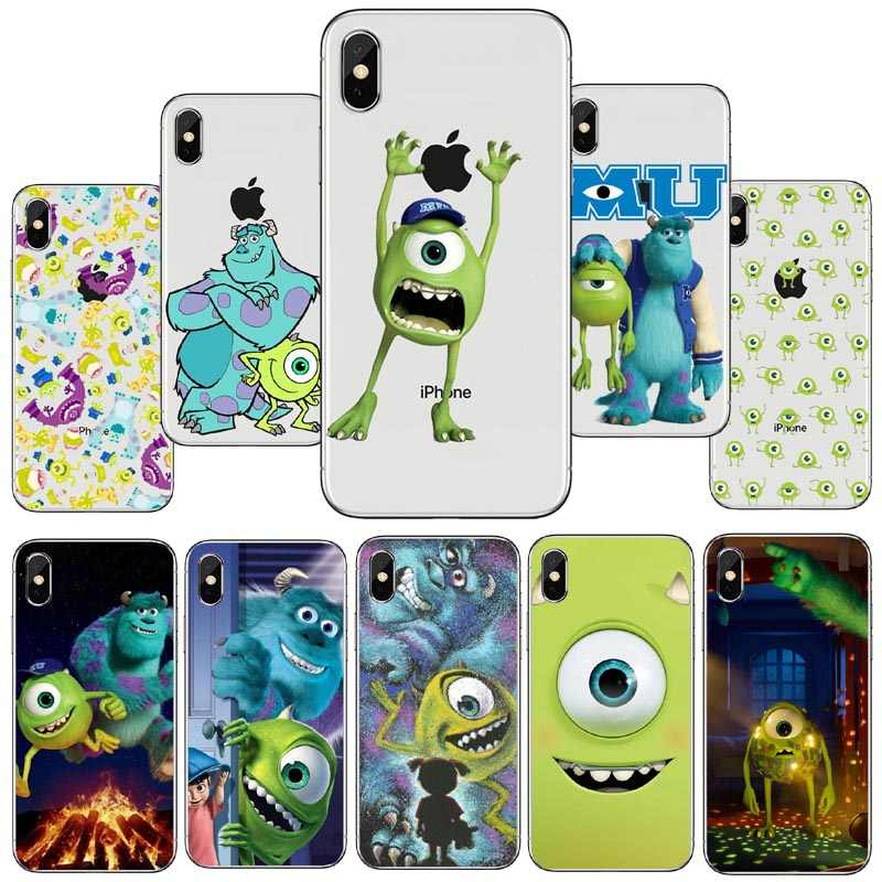Seracase monsters bonitos universidade mike wazowski fino caso de telefone macio para iphone5s se 6 6 splus xs max 8plus xr supre bonito coque