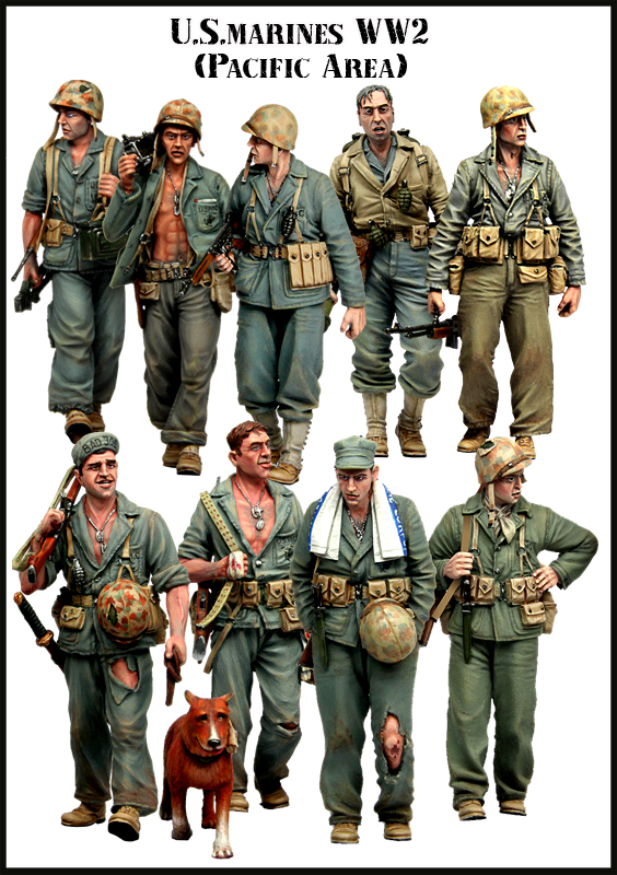 1:35 scale resin model kit resin figure model soldier American Marines ww2 big set 9figures Db02 scale models 1 16 120mm soviet scout soldier ww2 120mm figure historical wwii resin model free shipping