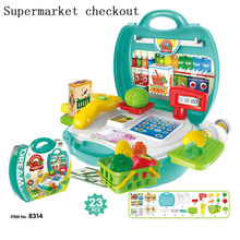 22 Types pretend Play Children simulation kitchen cooking tableware dressing cash register suitcase doctor Kids Plastic toy se(China)