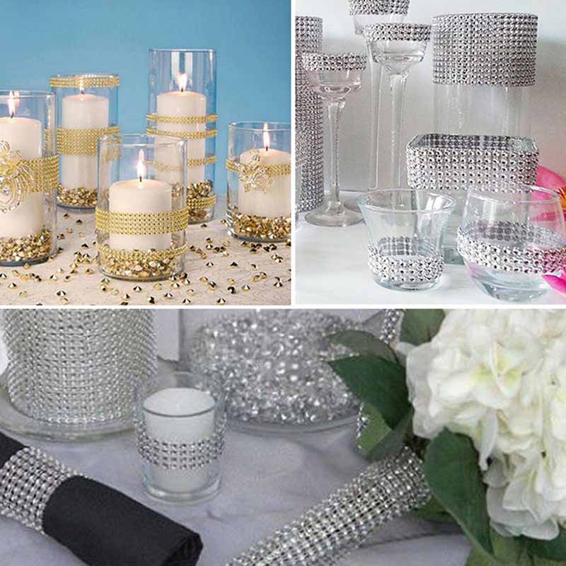 50pcs rhinestone Napkin Rings Holders Wrap for birthday baby shower new year Wedding Hotel home Table Centerpieces Decoration