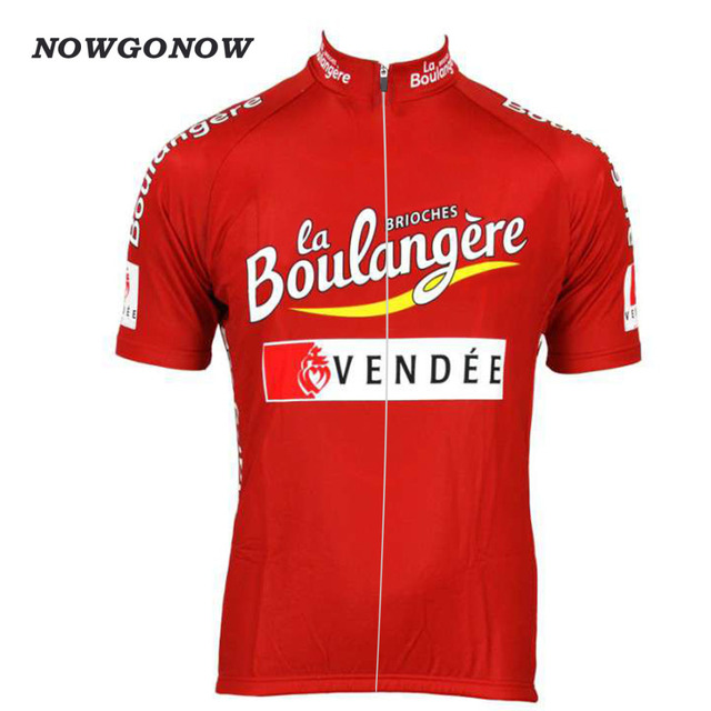 baab99837 Man classic cycling jersey red Retro summer clothing bike wear pro team  tops bicycle shirt road maillot ciclismo MTB NOWGONOW