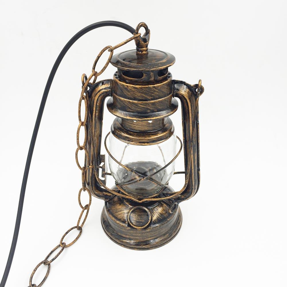Antique bedroom lamps - Creative Vintage Kerosene Pendant Lamp 110v 250v E27 Iron High Temperature Paint Modern Industrial Bedroom