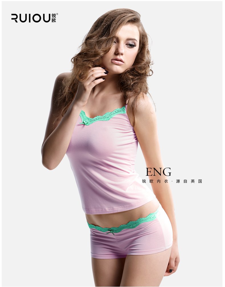 bf86e45eb2 Fashion Sexy Pyjamas Women Modal Fabric Lace Suspenders Shorts ...