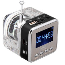 Mini USB MicroSD Card FM Radio LCD display Speaker Music MP3 Player Outdoor Speaker Music surround For Showers Bathroom Car(China)