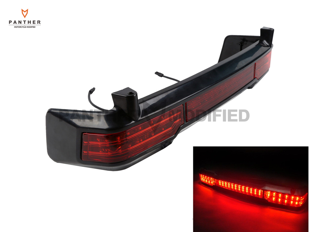 ФОТО 1 Pcs Black LED Motorcycle Tail Brake Light Signal case for Harley Classic Ultra King Tour Pack 2009 2010 2011 2012 2013