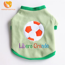 Pet Dog Vest Sport Sweatshirt Football Green Color Small Dogs Shirt Cotton  Clothing Size XS-L DOGGYZSTYLE 8211dbb81