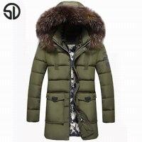 Winter Warm Hooded Men Down Jackets Casual X Long Duck Down Coats Jackets Thicken Outwear Casual