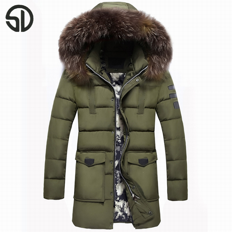 ФОТО Winter Warm Hooded Men Super Warm Jackets Casual X-Long Coats & Jackets Thicken Outwear Casual Solid Parkas Plus Size 4XL