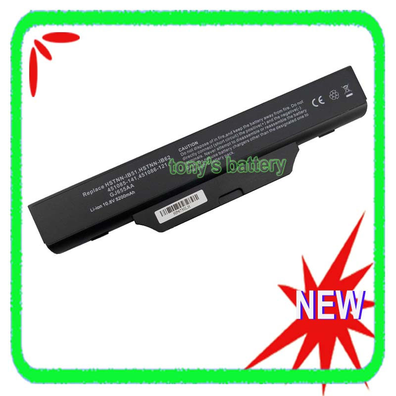 5200mah Battery For <font><b>HP</b></font> Compaq 6720 6720s 6730s 6735s 6800 6820 <font><b>6820S</b></font> 6830s 550 610 HSTNN-FB52 HSTNN-FB51 HSTNN-IB51 image