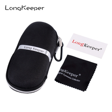 LongKeeper Sunglasses Box with Glasses Clothes High Quality Sun Black Case Eyewear Accessories