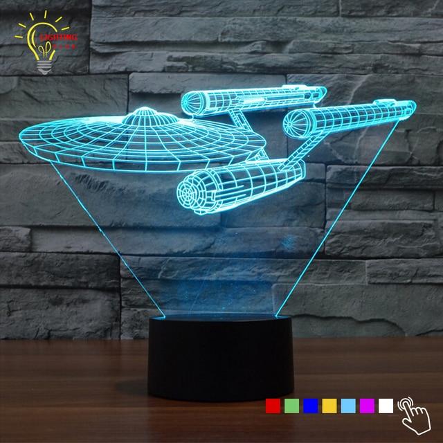 novelty star trek night light 3d lampe star wars usb led lighting luminaria de mesa table