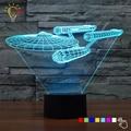 Star trek novelty luz de la noche 3d lámpara de luminaria led adminículo iluminación Legoe Star Wars Decoración Lamparita de Noche para Niños niños