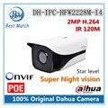 Новый Dahua 2-МЕГАПИКСЕЛЬНАЯ Ip-камера Видеонаблюдения HD Сеть Цилиндрические Видеокамеры DH-IPC-HFW2228M-I4 Супер Ночного видения Поддержка POE и Onvif