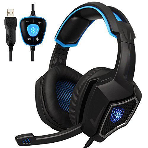 Gaming Headphone 7.1 Surround Stereo Sound USB Computer Headset Microphone Noise Isolating Breathing LED Light For PC Gamers somic g951pink headphone 7 1 virtual gaming headphone female players wired usb headphone with microphone headsets 3d surround