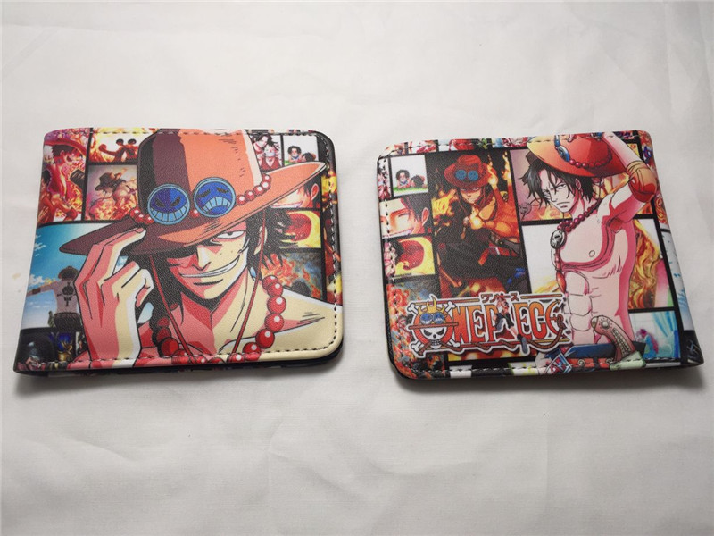 One Piece Trafalgar D Water Law Wallet Colorful Card Holder Coin Bag Purse Gift