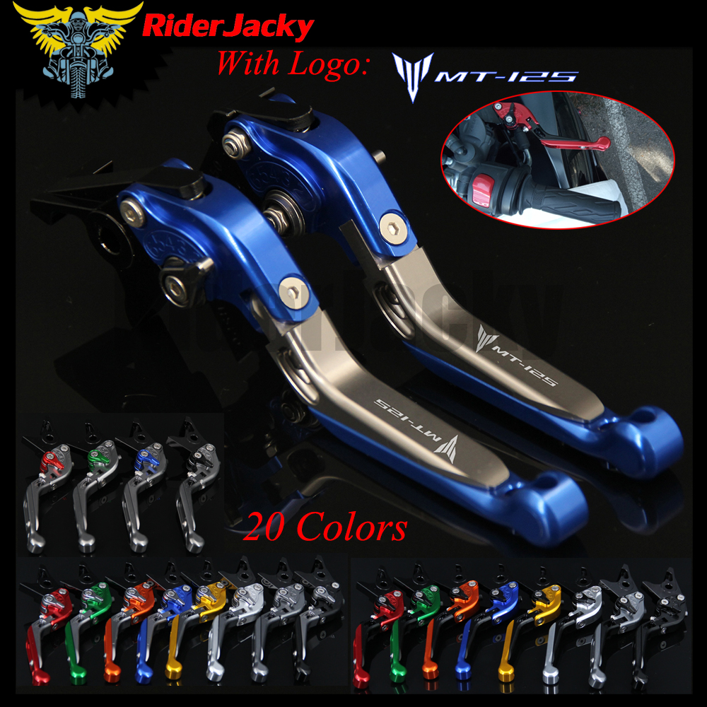 RiderJacky LOGO MT-125 moto CNC leviers dembrayage de frein pour Yamaha MT-125 MT125 MT 125 2015-2018 extensible pliableRiderJacky LOGO MT-125 moto CNC leviers dembrayage de frein pour Yamaha MT-125 MT125 MT 125 2015-2018 extensible pliable