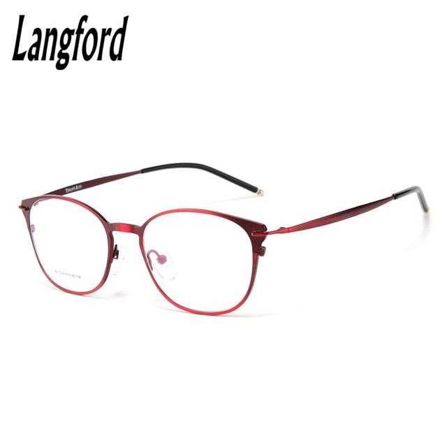 Óculos de armação mulher RetroStyle óculos Rodada Do Vintage vidros ópticos simples Finas grandes armações de óculos China hipster myopia1014