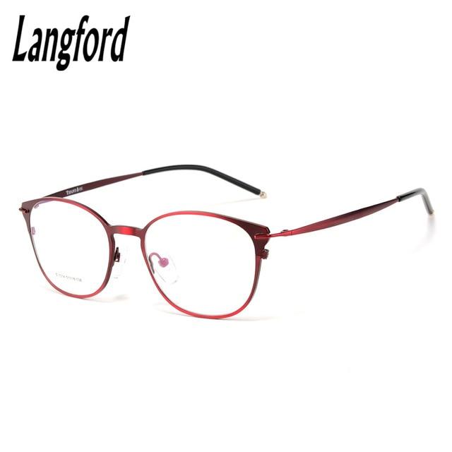 5e00f724e2 Marco de anteojos ópticos mujer gafas Vintage RetroStyle marcos grandes  gafas Redondas gafas llanura Delgada China