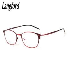 frame eyeglasses woman optical glasses Vintage RetroStyle Round eyewear plain Thin large eyewear frames China hipster