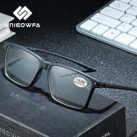 Óculos de leitura para a vista com diopter men clear optical presbiopia óculos preto tr90 óculos de olho + 1.5 + 2 2.5 + 3 + 4