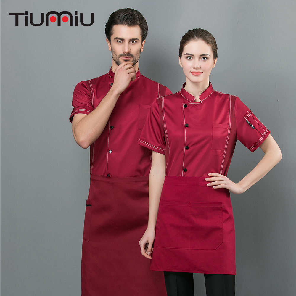 2019 Chef Jacket Barbr Summer Work Clothes Cake Coffee Fast Food Service High Quality Restaurant Kitchen Ropa De Cocina