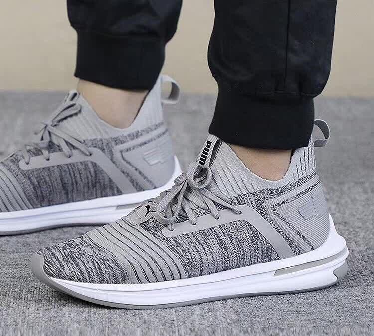 e2e9bff8f46 2018 Baru Kedatangan Asli Puma Ignite Menolak Memakai Bantalan Sepatu Pria  Bulu Kulit Badminton Sepatu Sneakers
