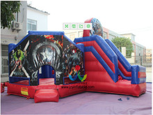 6*6*4M The Avengers Theme Custom Inflatable Combo Bouncer Inflatable Bounce Slide Jumping Bouncer for Kids