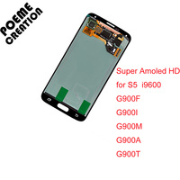 For Samsung Galaxy S5 I9600 SM G900 G900R G900F G900H G900M LCD Replacement Super AMOLED HD