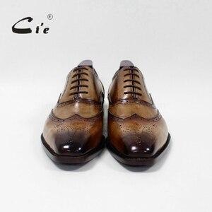 Image 4 - cie Square Toe Brogue Oxford 100%Genuine Calf Leather Breathable Bespoke Leather Shoe Custom Leather Men Flat  Handmade OX 02 16