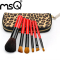 MSQ 6pcs Mini Animal Hair Makeup Brush Set 3 Color Make Up Brush Set With High Quality Leopard Bag Cosmetic Tool For Beauty