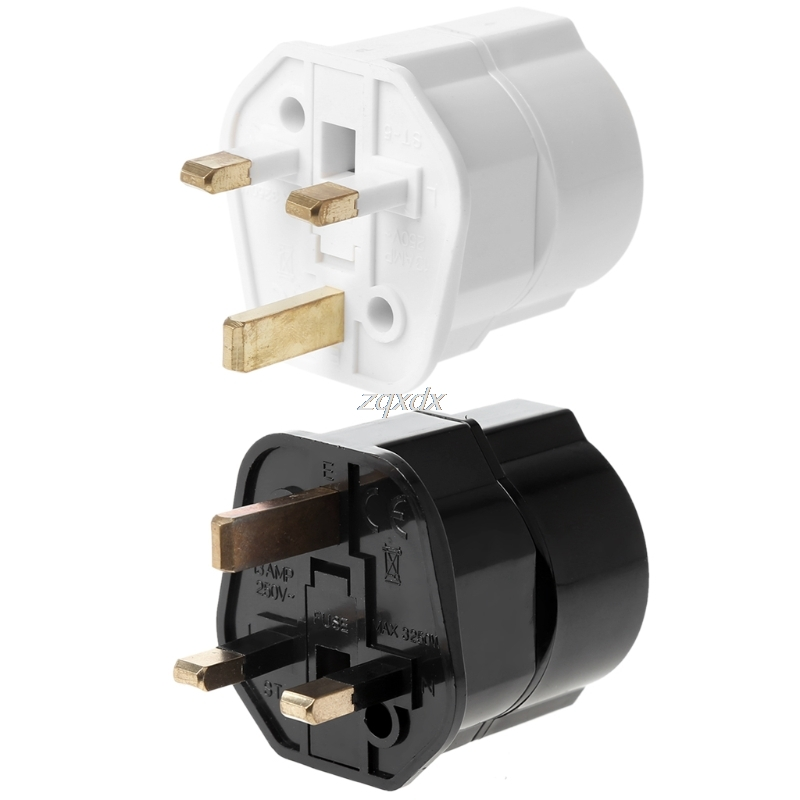 Multifunctional UK Male To EU Female Plug Power Converter Travel Charger Adapter Z07 Drop ship