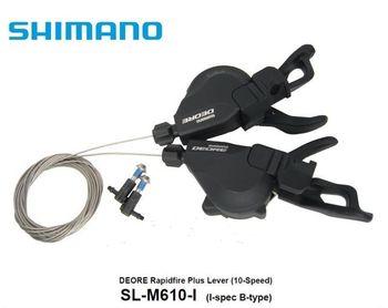 Shimano Deore m610 SL-M610 i Spec wyzwalacze Rapidfire Shifters 2 3 #215 10 prędkości tanie i dobre opinie Przerzutki Stop 30 Prędkości Przerzutka SL-M610-i 20s 30s Trigger 265g (pair) 10 speed Mountain Bike