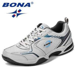 Image 3 - BONA New Popular Men Tenis Shoes Leather Outdoor Sport Shoes Classics Jogging Shoes Comfortable Trendy Man Sneakers Shoes