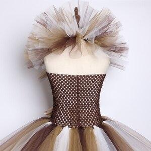 Image 5 - Wild האריה מאנה טוטו שמלת חום פרחי ילדים בנות מסיבת יום הולדת שמלת ילדי ליל כל הקדושים קוספליי בעלי החיים תלבושות 2 12Y