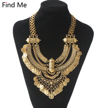 Find Me fashion 2018 Maxi Brand boho power brand collar choker necklace vintage gypsy ethnic statement necklace women Jewelry