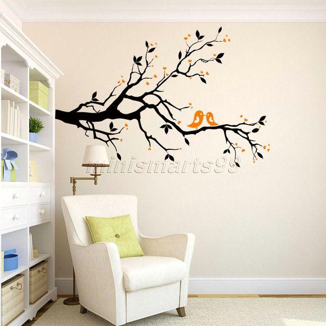 Famiglia Flying Birds Albero Adesivi Murali Arti Decorazioni Per ...