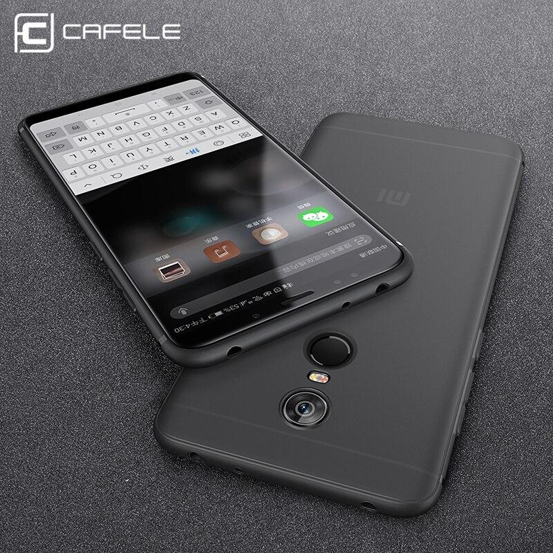 Cafele мягкий чехол для Xiaomi Redmi 5 плюс сзади защитить кожу ультра тонкий Анти-отпечатков пальцев микро-скраб телефон Обложка для redmi 5