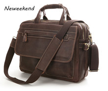 Mens messenger bags, Cowhide Leather bags, Briefcase, Handbag / Handbags, Portfolio, Genuine leather,laptop case, 14013
