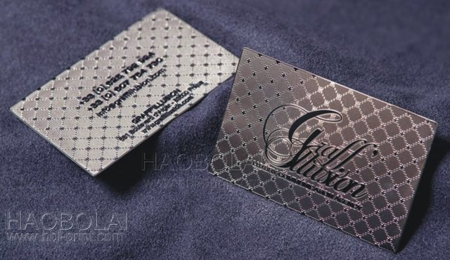 metal business cards silver iso standard printing luxury business metal card free design - Luxury Business Cards