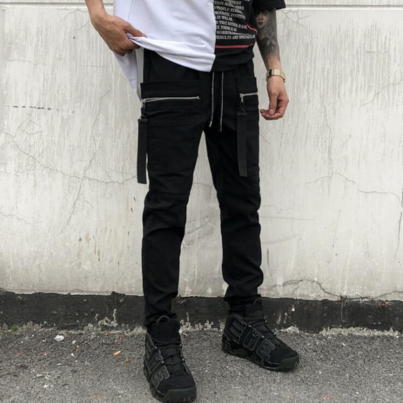 Mens Punk Button Slim Goth Skinny Pants Nightclub Harem Punk Black Trousers Hot