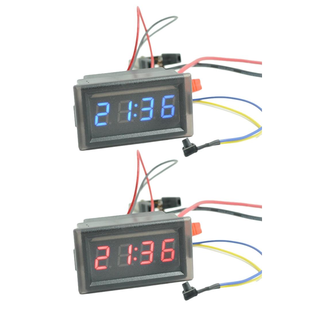 9cd03b3924c 3 em 1 Car Auto Digital Termômetro Relógio Voltímetro Volt 12V24V ...