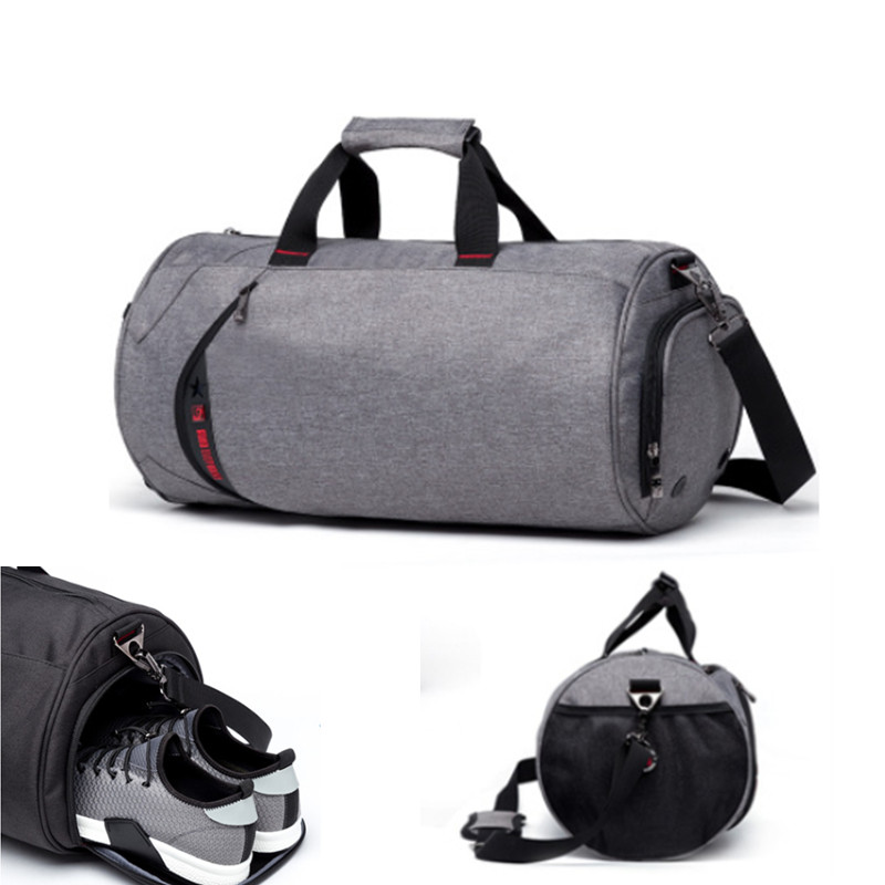 Fashion Men Travel Bags Large Capacity Women Luggage Travel Duffle Bags Polyester Waterproof Bucket Handbag 2 sizes are optional