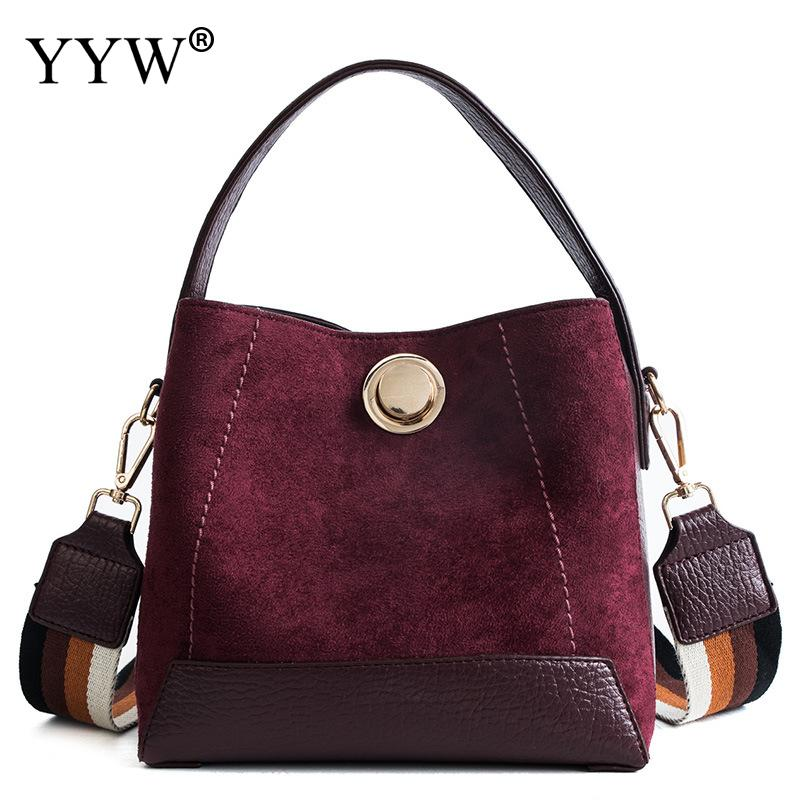 Burgundy Handbag Women 2019 Pu Leather Female Clutch Bag Bolsa Feminina Fashion Brand Soft Top Handle Hand Bags Large Totes Bags-in Top-Handle Bags from Luggage & Bags