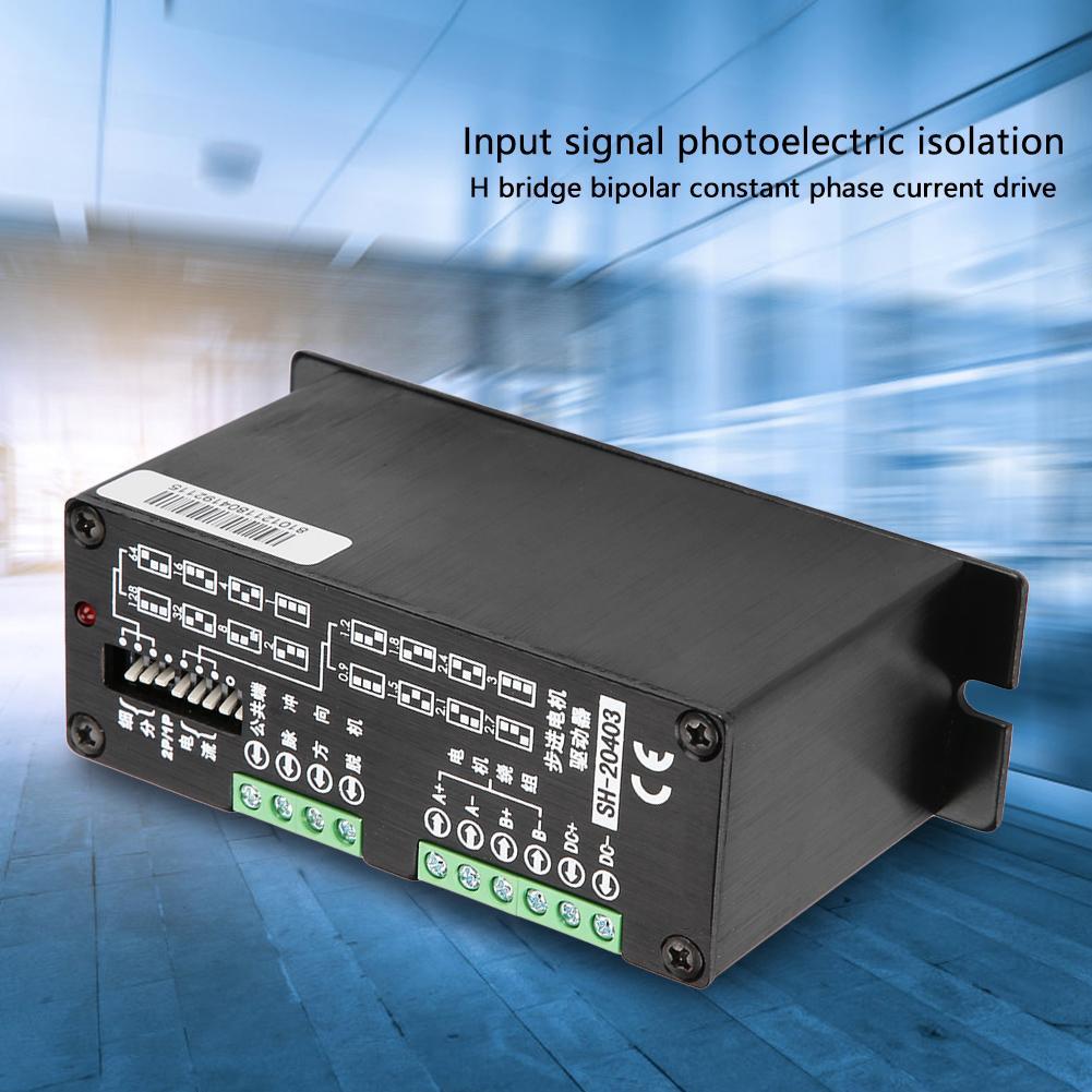 SH-20403 10-40VDC 3A 128 Stepper Motor Driver Micro Step Motor Driver Controller Module Semi-Closed Case Motor Driver