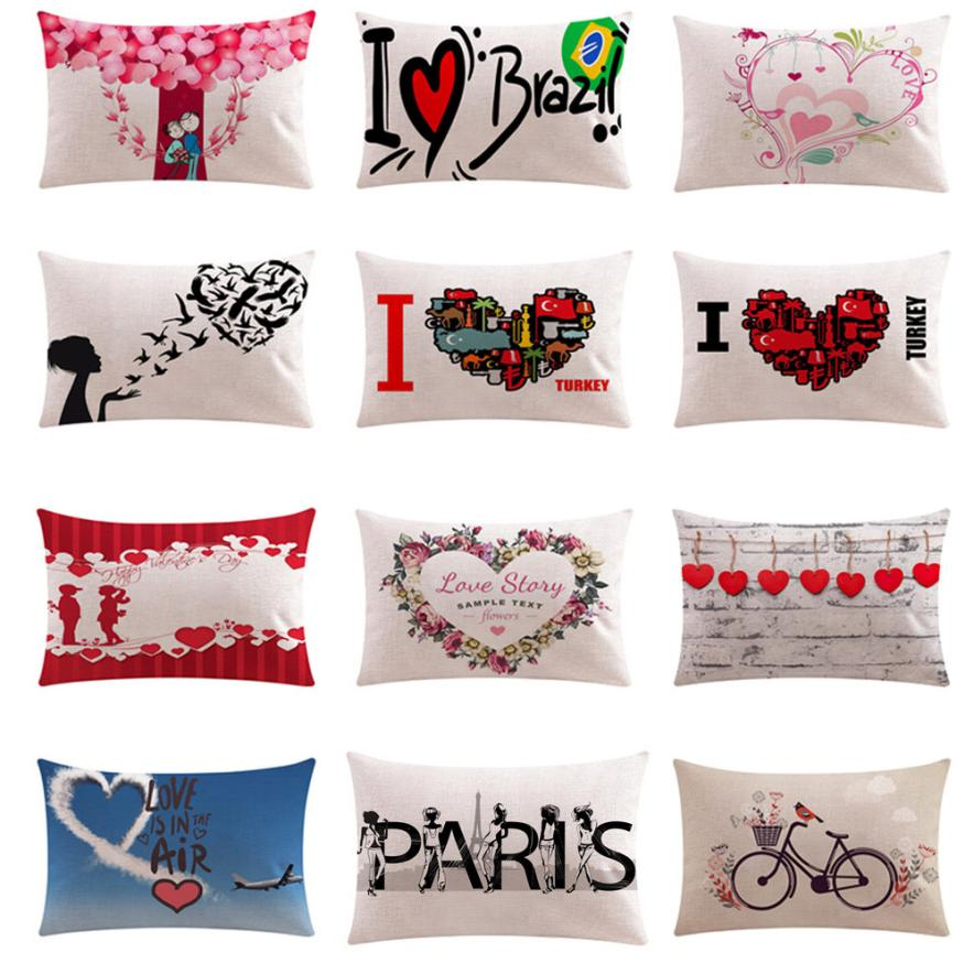 50cm*30cm Cushion Cover Euro Style Pillow Cover Valentine's Day Present Decor Pillows Nordic Cojines Almofadas #SE