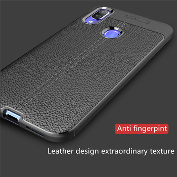 50PCS Luxury Slim Phone Case For Xiaomi Redmi 7A K20 Pro 6A 5 Plus 5A Note 7 6 4X 4 Cases Leather Litchi Pattern Soft TPU Cover