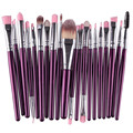 GRACEFUL 20 pcs Makeup Brush Set tools Make-up Toiletry Kit Wool Make Up Brush Set  Easy to stick powder, natural colorJUL27
