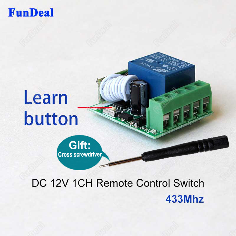 DC12V 10A 1CH Relay 433 Mhz Receiver Wireless RF Remote Control Switch DIY Module For Transmitter Remote DIY Integrated Circuits floor